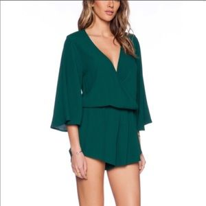 Planet blue - Blue life Romper in Forest Green